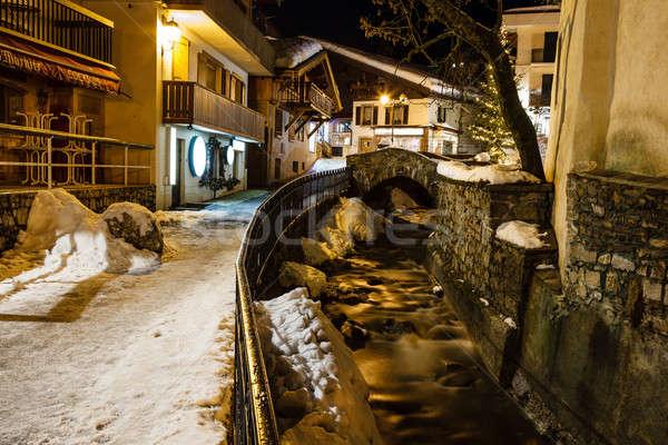 улице французский Альпы Франция центральный Сток-фото © anshar