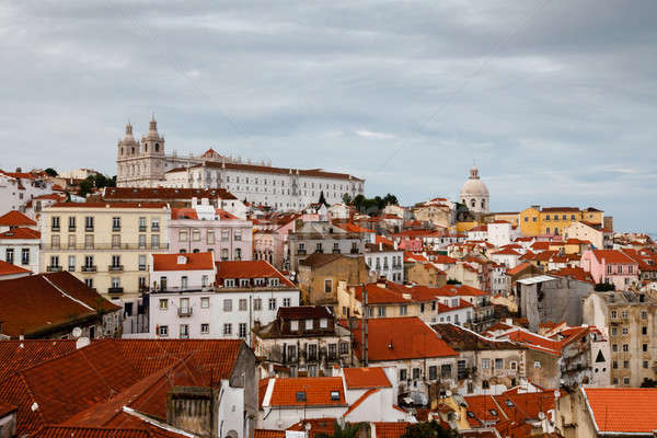 Stock photo: Aerial View on Alfama Quarter of Lisbon, Portugal
