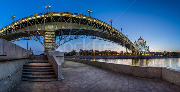 Panorama of Christ the Saviour Cathedral and Patriarshy Bridge i Stock photo © anshar
