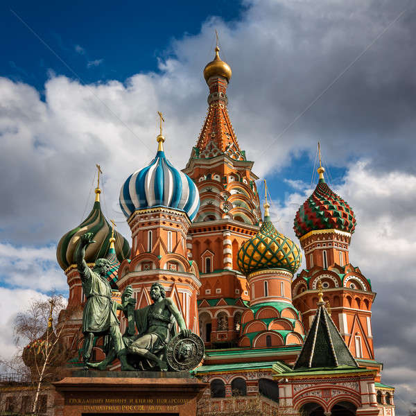 Saint Basil Church and Minin and Pozharsky Monument in Moscow, R Stock photo © anshar