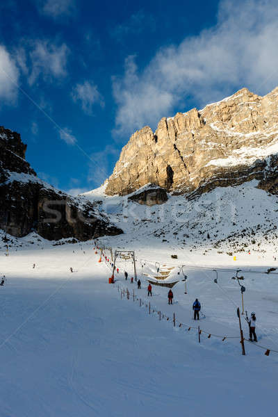 T-bar Lift on the Skiing Resort of Colfosco, Alta Badia, Dolomit Stock photo © anshar