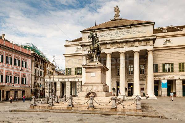 статуя опера театра Италия небе дома Сток-фото © anshar