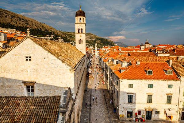 панорамный мнение Дубровник город стен Хорватия Сток-фото © anshar