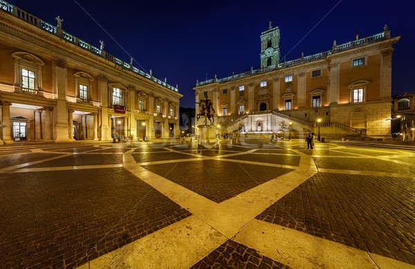 Piazza del Campidoglio on Capitoline Hill with Palazzo Senatorio Stock photo © anshar