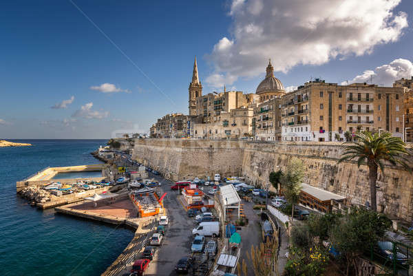 Skyline of the Maltese Capital city Valletta, Malta Stock photo © anshar