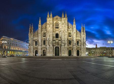 Panorama milaan kathedraal Italië 13 Stockfoto © anshar