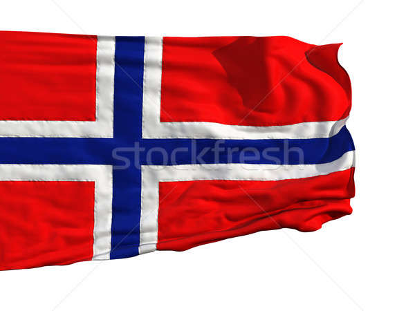 Norwegian flag, fluttering in the wind Stock photo © Antartis