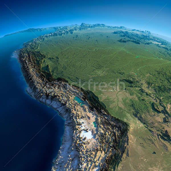 Detalhado terra Bolívia Peru Brasil Foto stock © Antartis
