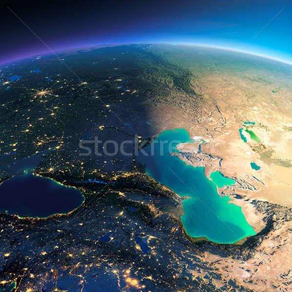 Gedetailleerd aarde kaukasus zee aarde Stockfoto © Antartis