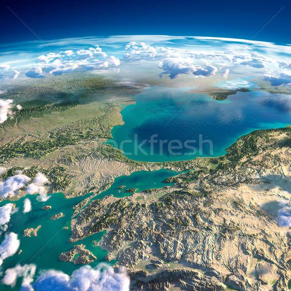 Planeten Erde Türkei Meer sehr detaillierte übertrieben Stock foto © Antartis