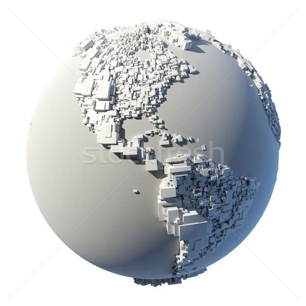 Cubic structure of the planet Earth Stock photo © Antartis