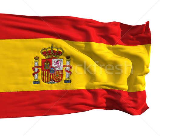 Flag of Spain, fluttering in the wind Stock photo © Antartis