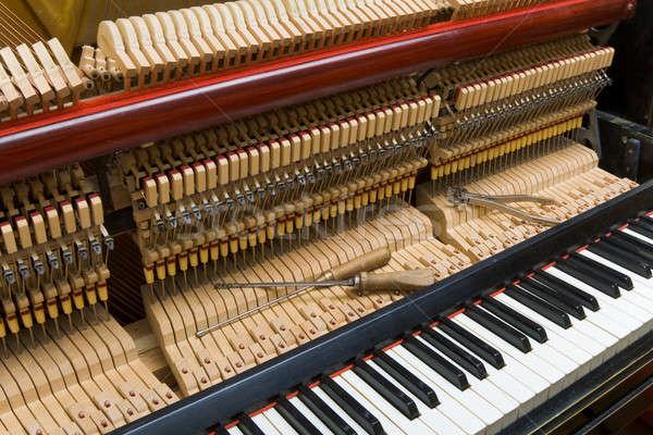 Zongora tuning elöl borító folyamat beállítás Stock fotó © Antartis