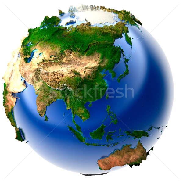 Foto stock: Miniatura · real · tierra · 3D · modelo · mundo