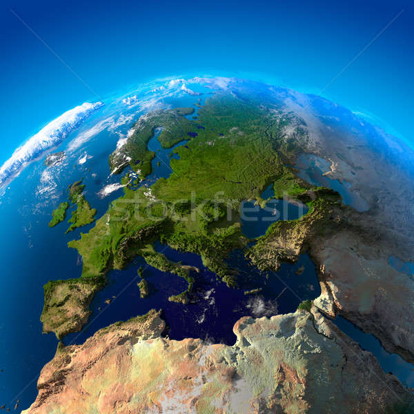 View on Europe from a height of satellites Stock photo © Antartis