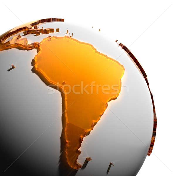 Photo stock: Terre · continents · orange · verre · monde
