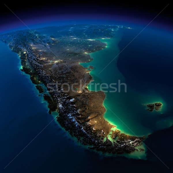éjszaka Föld darab dél-amerika Argentína Chile Stock fotó © Antartis