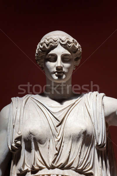 Colossal Statue of Ceres, Vatican Museums, Rome, Italy. Detail Stock photo © Antartis