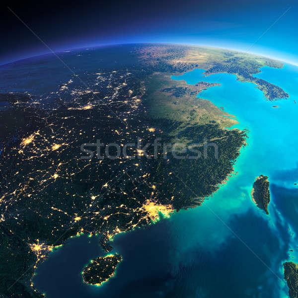 Ayrıntılı toprak doğu Çin Tayvan Stok fotoğraf © Antartis