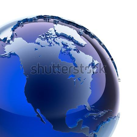 Blue glass globe Stock photo © Antartis