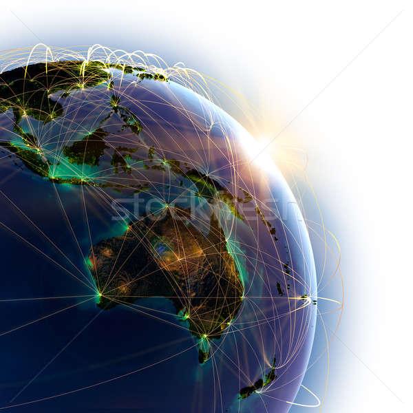 основной воздуха Австралия Океания подробный Сток-фото © Antartis