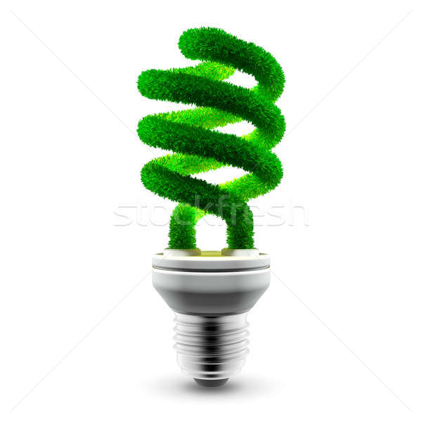 Green energy-saving lamp Stock photo © Antartis