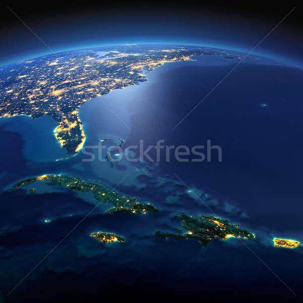 Dettagliato terra Caraibi Cuba Haiti Foto d'archivio © Antartis