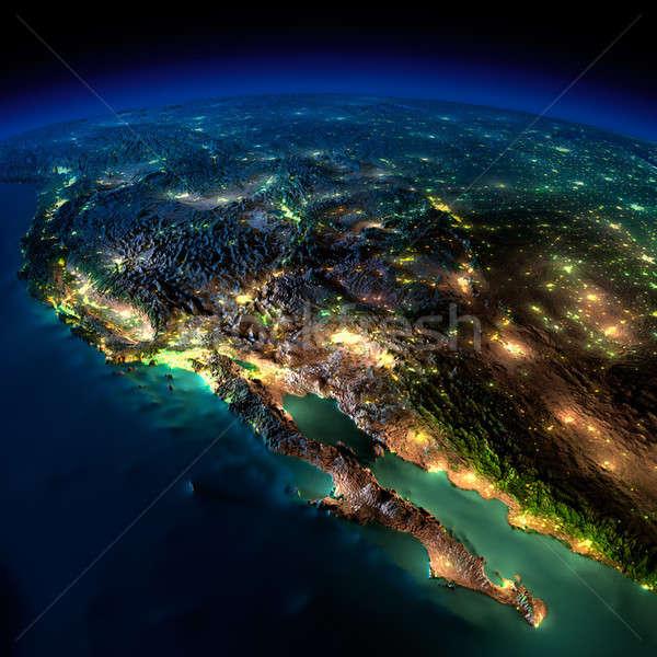 Noc ziemi kawałek na północ Ameryki Meksyk Zdjęcia stock © Antartis