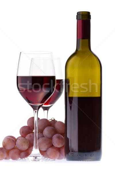 Two glasses with dark red wine Stock photo © Antartis