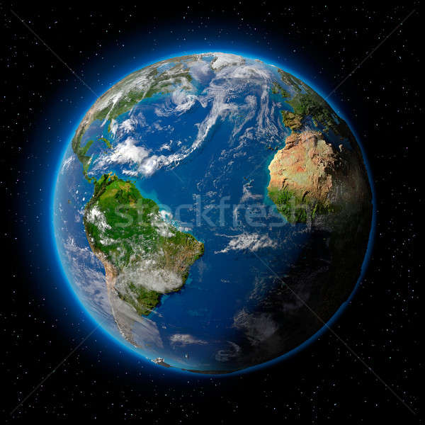 Earth in Space Stock photo © Antartis