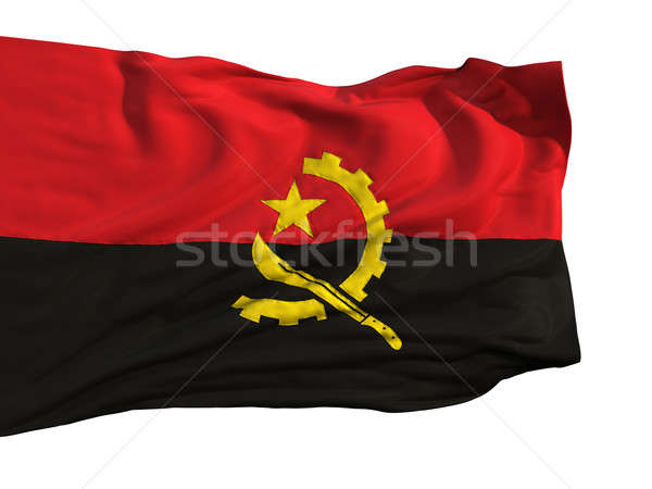 Flag of Angola, fluttering in the wind Stock photo © Antartis