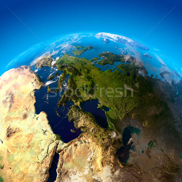 View Europa altezza Spagna Francia Germania Foto d'archivio © Antartis