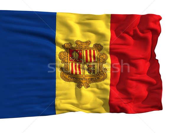 Zászló Andorra szél darabok ruha valósághű Stock fotó © Antartis