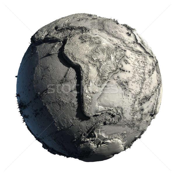 Stockfoto: Dode · aarde · water · globale · ecologisch · catastrofe