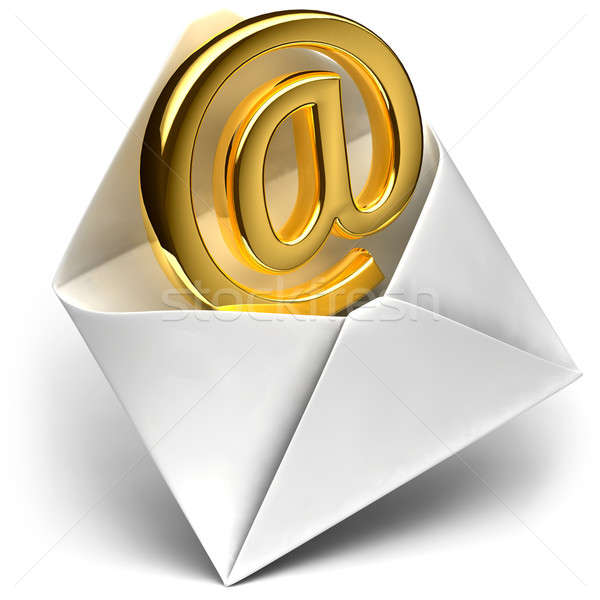 Golden e-mail sign Stock photo © Antartis