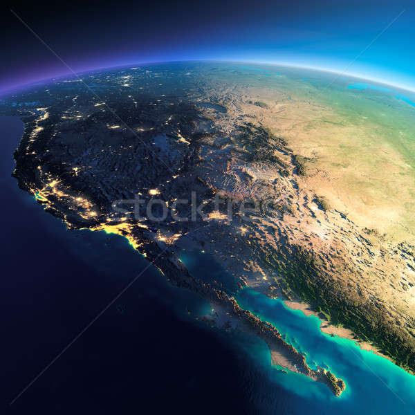 Detailed Earth. Gulf of California, Mexico and the western U.S. Stock photo © Antartis