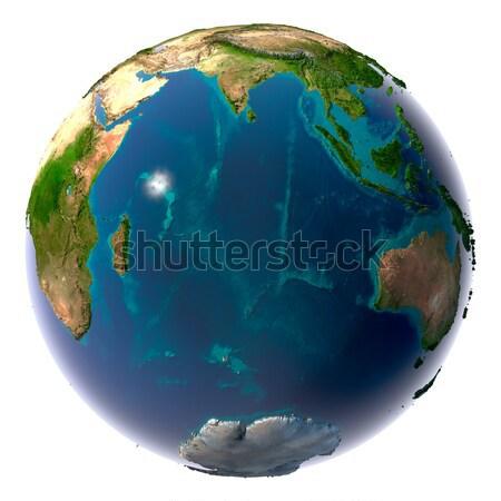 Gerçekçi dünya gezegeni doğal su toprak Stok fotoğraf © Antartis