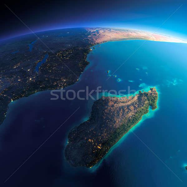 Détaillée terre Afrique Madagascar planète terre Photo stock © Antartis