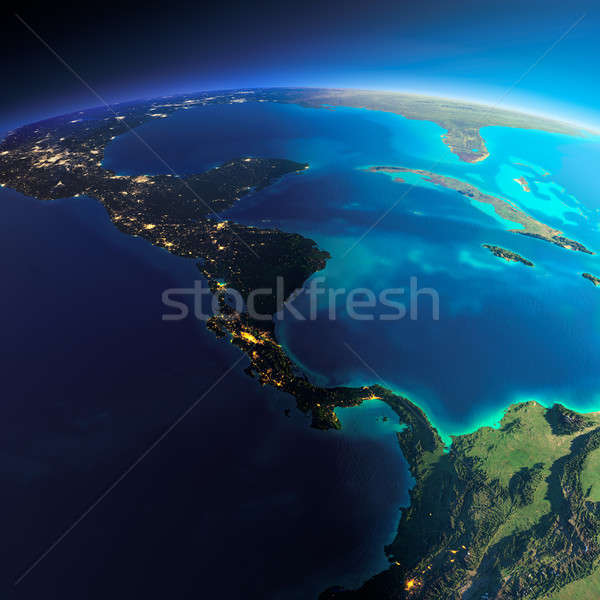 Detailed Earth. The countries of Central America Stock photo © Antartis