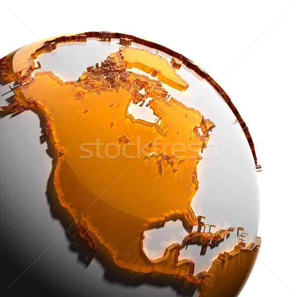 Terra continenti arancione vetro mondo Foto d'archivio © Antartis