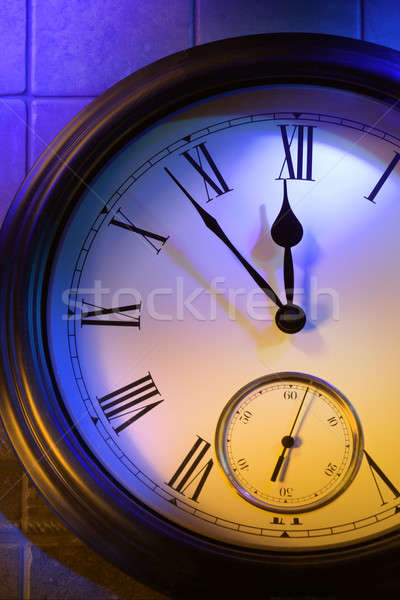 Colorful retro clock Stock photo © Antartis