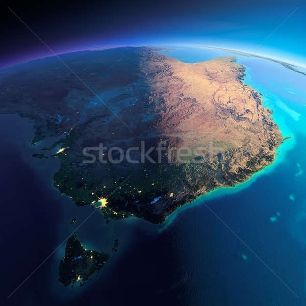 Detailed Earth. Australia and Tasmania Stock photo © Antartis