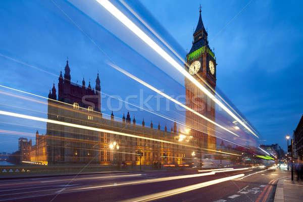 Big Ben derrière lumière crépuscule temps Londres Photo stock © Antartis