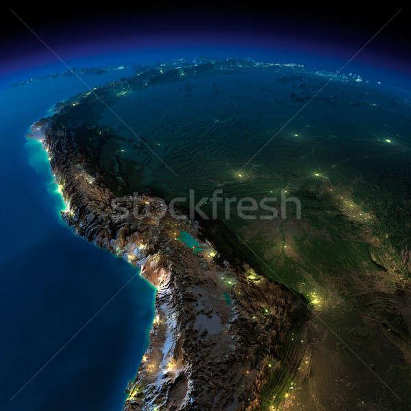 éjszaka Föld darab dél-amerika Bolívia Peru Stock fotó © Antartis