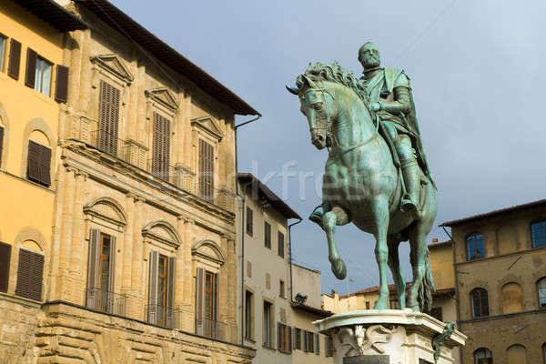 Statue of Cosimo I de' Medici by Giambologna Stock photo © Antartis