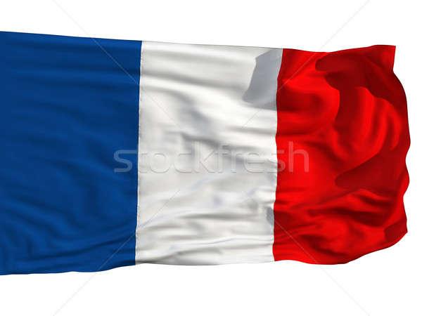 Banderą Francja wiatr sztuk tkaniny realistyczny Zdjęcia stock © Antartis