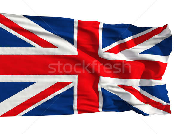 Flag of the United Kingdom, flying in the wind Stock photo © Antartis