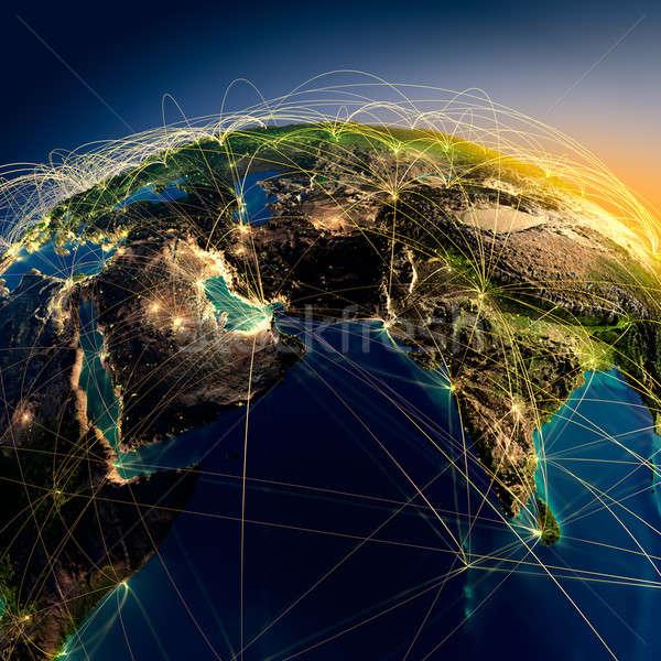Stock fotó: Fő- · levegő · Közel-Kelet · India · rendkívül · részletes
