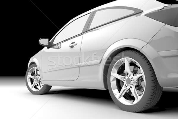 Rear-side view of a car Stock photo © Antartis