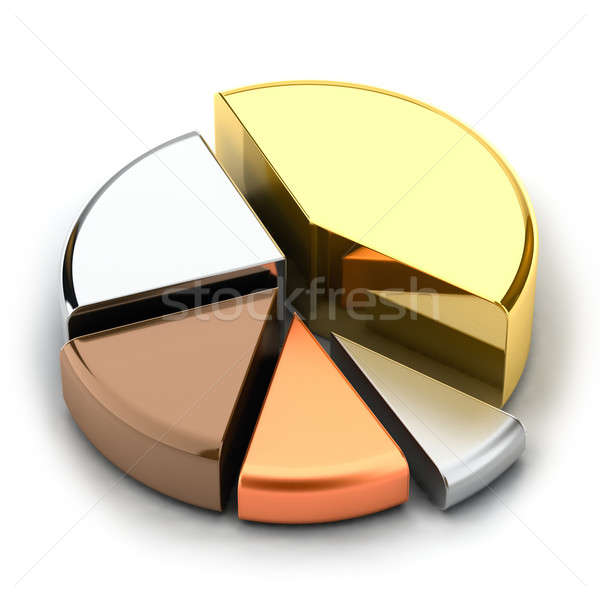 Stock photo: Pie chart